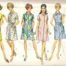 Simplicity 8285 (1969) A-line Dress Front Zipper Patch Pockets Size 10 Cut