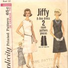 Simplicity 5508 (1964) Vintage Pattern Jiffy A-line Dress Jumper Size 12 Cut