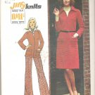 Simplicity 5898 (1973) Vintage Pattern Knit Dress Pants Jacket Top Size 10 Part Cut