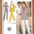 Simplicity 9406 (1980) Vintage Pattern Straight Leg Pants Unlined Jacket Size 10 Uncut