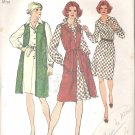 Simplicity 5907 (1973) Vintage Pattern Elastic Waist Dress Long Vest Size 10