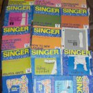 Partial Set of Vintage Singer Sewing Series for Home and Fashion 1972