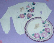 Glitzy Shirts Iron-on Applique Kit  Butterfly  Flowers