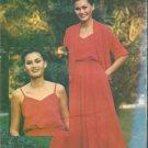 Butterick 6434 Pattern Unlined Jacket Shawl Collar V-neck Dress Shoulder Straps Size 10 Uncut