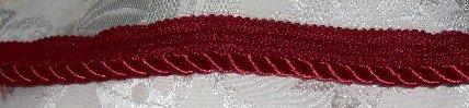 "Red Medium Twist Home Decor Trim  1"" wide x 3 3/8 yds long (plus 1 1/2"")"