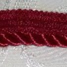 "Red Medium Twist Home Decor Trim  1"" wide x 3 3/8 yds long (plus 1 1/2"")"