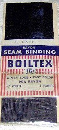 "Navy Boiltex 100% Rayon Woven Edge Seam Binding 1/2"" w x 3 yds"