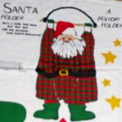 Swingin' Santa Christmas Holder Fabric Cut and Sew Panel