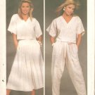 Simplicity 6742 (1984) Crop Top Pleated Skirt and Tapered Pants Pattern Size 10  Uncut
