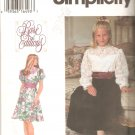 Simplicity 9383 (1995) Rare Editions Girls Dress Sash Long Short Sleeves Pattern  Size 7-8-10  Uncut