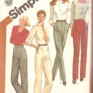 Simplicity 5205 (1981) Straight or Tapered Legs Front Tucks Dress Pants Pattern Size 10  Uncut