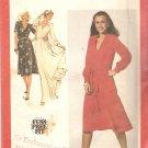 Simplicity 9284 (1979) V Neck Front Tucks Tie Belt Cuffed Sleeves Dress Pattern  Size 10  Uncut