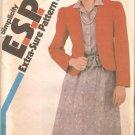 Simplicity 5712 (1982) Pullover Elastic Waist Dress Bolero Jacket Pattern Size 10-12-14 Uncut