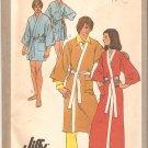 Simplicity 9507 Vintage Classic Unisex Kimono Robe Tie Belt Pattern Size 12  Uncut