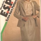 Simplicity 6536 (1984) Classic Slim Skirt  Unlined Jacket Pattern Adj to Petite  Size 8-10-12 Uncut