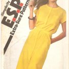 Simplicity 9360 (1980) Button Front Shirtdress Waistband Cap Sleeves Pattern Size 10-12-14 Uncut