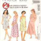 McCalls 2630 (2000) Girls 2 Hour Pullover Dress Lined Shrug Pattern Cut to Size 7