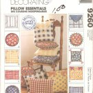 McCalls 9260 (1998) Easy Round Square Rectangular Pillows Pattern Uncut