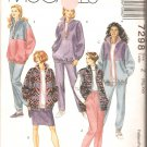 McCalls 7298 (1994) Unlined Jacket Vest Top Skirt Pull-on Pants Pattern Plus Size 20 22 24 26 Uncut