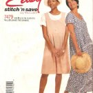 McCalls 7479 (1995) Pullover Dress Empire Waist Pleated Skirt Pattern Size 16 18 20 22 Uncut