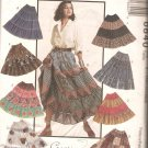 McCalls 6840 (1993) Four Tiered Pull-on Skirt Elastic Waist Pattern Size XS S M Part Cut