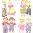 "Simplicity 4268 (2006) 15"" Doll Dress Pants Shirt Overalls Pajamas Bandana Pattern UNCUT"