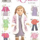 "Simplicity 4786 (2004) 18"" Doll Dress Pants Top Jumper Jacket Coat Boots Pattern UNCUT"