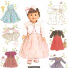 "Simplicity 4364 (2005) 18"" Doll Dress Top Skirt Leotard Tutu Jacket Pattern UNCUT"