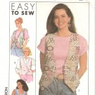 Simplicity 0649 (1990) Misses Womens Three Style Vest Pattern Size Petite S M L XL Part Cut XL