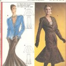 Burda 5892 Straight Skirt Gored Flared Hem Pointed Front Jacket Pattern Size 10 12 14 16 18 UNCUT