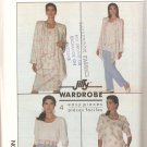 Simplicity 9022 (1989) Pull-on Pants Skirt Top Unlined Jacket Cascade Front Pattern Size 14 16 UNCUT