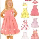New Look 6577 (2006) Girls Dress Underskirt 6 Variations Pattern Size 1/2 1 2 3 4 Part Cut to 2