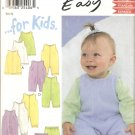 New Look 6132 Baby Romper Jumper Pants Dress Pattern Size Newborn Small Medium Large Part Cut Large