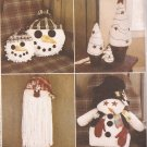 Mccalls 2333 (1999) Christmas Tree Snowman Santa Craft Patterns UNCUT