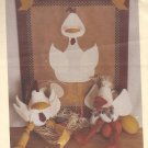 Twice as Nice Designs #162 (1992) Cluck & Quackers Shelf Sitter Peg Hanger Pattern PART CUT