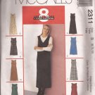 McCalls 2311 (1999) Petite-able Dress Jumper Length Neck Variations Pattern Size 8 10 12