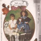 McCalls 5163 (1990)  Children Girls Lined Capelet Dress Bag Doll Clothes Pattern Size 4 5 6 UNCUT