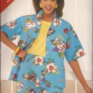 Butterick 5476 (1996) Misses Button Front Shirt Elastic Waist Shorts Pattern Size 14 16 18 UNCUT