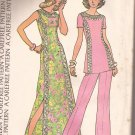 McCalls 3674 (1973) Lace Trim Dress Tunic Top Pants Pattern Size 16 UNCUT