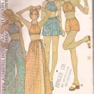 McCalls 4054 (1974) Halter Top Wrap Skirt Bell Bottom Wide Leg Pants Shorts Pattern Size 12 14 UNCUT