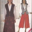 Butterick 5643 (1991) Leslie Fay Vest Blouse Skirt Split Skirt Pattern Size 18 20 22 UNCUT