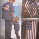 Simplicity 7246 (2002) American Flag USA Eagle Motif Transfers Flag Applique Pattern UNCUT