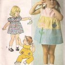 Simplicity 7988 (1977) Girls Toddler Dress Top Pants Applique Pattern Size 2 CUT