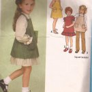 Simplicity 9211 (1979) Childs Girls Dress Sundress Jumper Pants Pattern Size 3 CUT