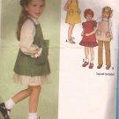 Simplicity 9211 (1979) Childs Girls Dress Sundress Jumper Pants Pattern Size 3 CUT