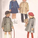 Simplicity 6661 (1984) Childs Single & Dobule Breasted Lined Coat Pattern Size 6X PART CUT