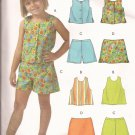 McCalls 4747 (2005) Childs Girls Tops Shorts Skort Pattern Size 3 4 5 6 UNCUT