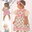 Simplicity 9536 (1989) Child Toddler Girl Jumper Sundress Blouse Pattern Size 1/2 1 2 3 PART CUT