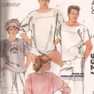 McCalls 9527 (1985) Misses Mens Pullover Tops Sweat T-Shirt Pattern Size Large UNCUT