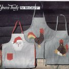 McCalls 8479 (1982) His and Hers Appliqued Aprons Santa Rooster Pattern UNCUT